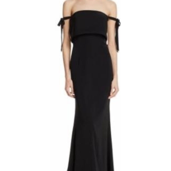 0d71fd53e266 JARLO Dresses | Tiestrapless Black Gown | Poshmark